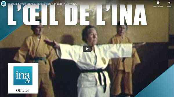 Jeanne Liberman, 85 ans et ceinture noire de Judo