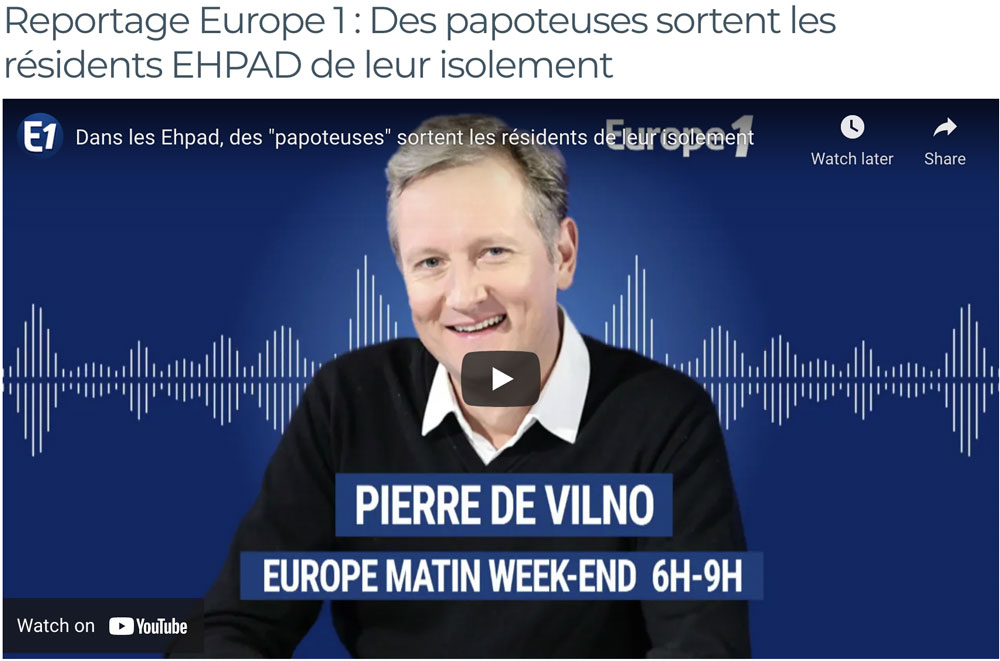 Reportage Europe 1 : Des papoteuses