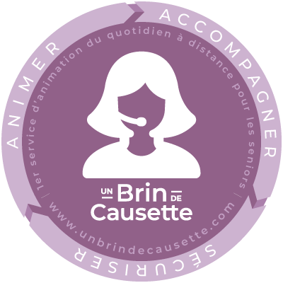 Un Brin de Causette : 1er service d'animation du quotidien à distance pour les séniors